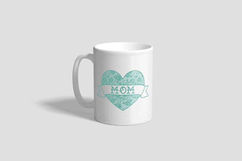 Mom Heart Ceramic Mug