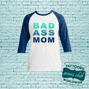 Bad Ass Mom Baseball T-Shirt - Navy